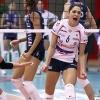 Coppa Italia A1 2011/12 - Quarti di FinaleMC Carnaghi Villa Cortese - Rebecchi Nordmeccanica PiacenzaPalaborsani, Castellanza (VA) - 24 Gen 2012-Esultanza di Carmen Turlea