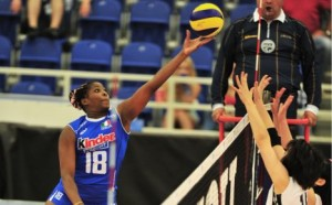 Italy Miriam Fatime Sylla tips over the block