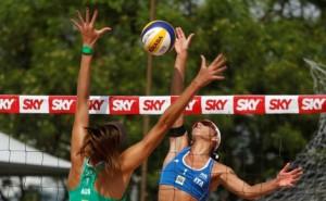 Taliqua Clancy of Australia and Marta Menegatti of Italy (right)